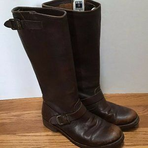 Frye Women's Veronica Slouch Boots Brown Leather